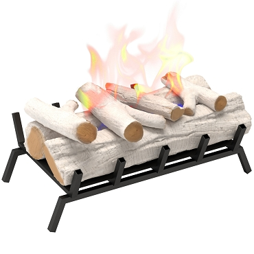 Regal Flame 24 inch Convert to Ethanol Fireplace Log Set with Burner Insert from Gel or Gas Logs in Birch