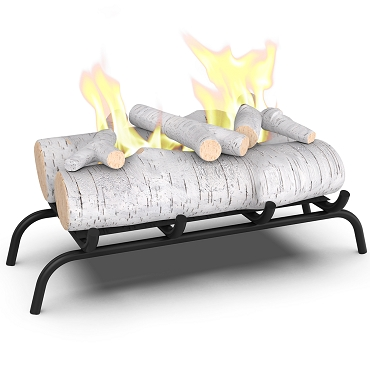 Regal Flame 18 inch Convert to Ethanol Fireplace Log Set with Burner Insert from Gel or Gas Logs - Birch