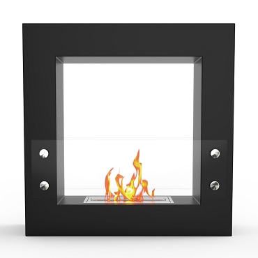 Dora Ventless Free Standing Ethanol Fireplace in Black