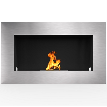 Regal Flame Warren 35 Inch PRO Ventless Built In Recessed Bio Ethanol Wall Mounted Fireplace