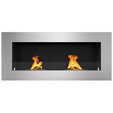 Regal Flame Warren 42 Inch PRO Ventless Built In Recessed Bio Ethanol Wall Mounted Fireplace