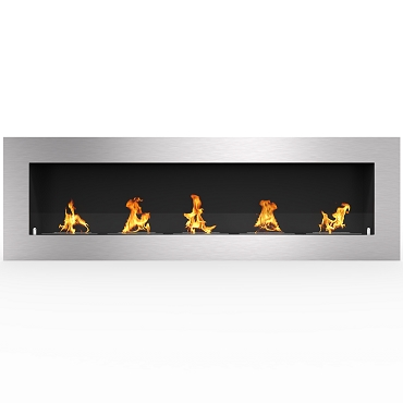 Regal Flame Warren 72 Inch PRO Ventless Built In Recessed Bio Ethanol Wall Mounted Fireplace