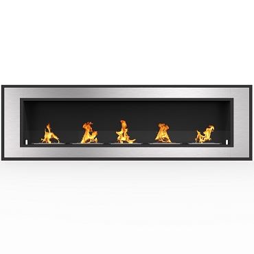 Regal Flame Cynergy 72 Inch Ventless Built In Recessed Bio Ethanol Wall Mounted Fireplace