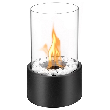 Regal Flame Eden Ventless Tabletop Portable Bio Ethanol Fireplace in Black