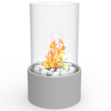 Regal Flame Eden Ventless Tabletop Portable Bio Ethanol Fireplace in Grey