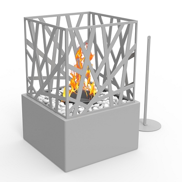 Regal Flame Bruno Ventless Tabletop Portable Bio Ethanol Fireplace in Grey