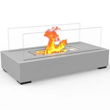 Regal Flame Utopia Ventless Tabletop Portable Bio Ethanol Fireplace in Gray