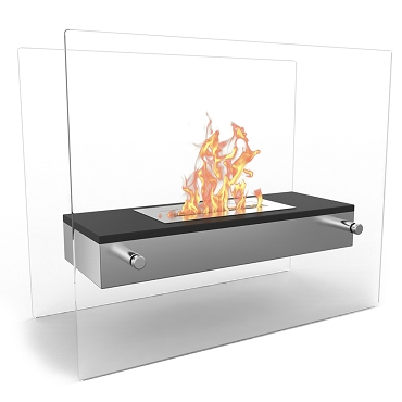Regal Flame Vista Tabletop Portable Bio Ethanol Fireplace in Black