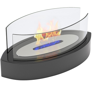 Regal Flame Veranda Tabletop Portable Bio Ethanol Fireplace in Black