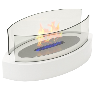 Regal Flame Veranda Tabletop Portable Bio Ethanol Fireplace in White