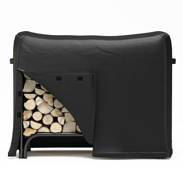 Regal Flame 4 Foot Black Water Resistant Firewood Log Rack Cover