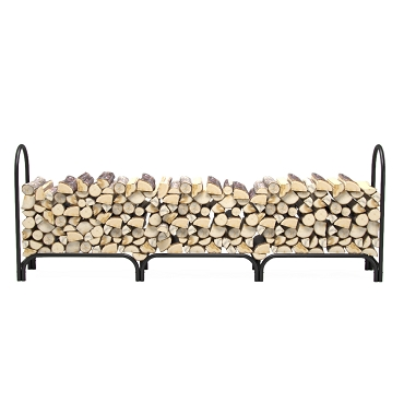 Regal Flame 8 Foot Heavy Duty Deluxe Steel Indoor Outdoor Firewood Log Rack Holder For Fireplaces, Fire Pits, Fire bowls, chimenea, or Wood for smokers