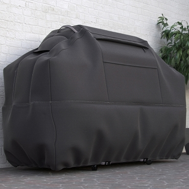 Dura Covers Taupe Collection 58 Inch Premium Heavy Duty 3, 4, or 5 Burner BBQ Cover with Reinforced Fade-Resistant Fabric with Straps, Vents, and Storage Compartment