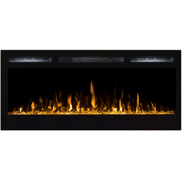 Regal Flame Lexington 35 Inch Built-in Ventless Heater Recessed Wall Mounted Electric Fireplace - Crystal