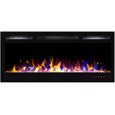 Regal Flame Lexington 35 Inch Built-in Ventless Recessed Wall Mounted Electric Fireplace - Multi-Color