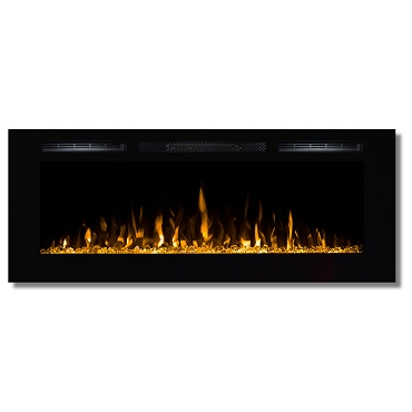 Regal Flame Fusion 50 Inch Built-in Ventless Heater Recessed Wall Mounted Electric Fireplace - Crystal