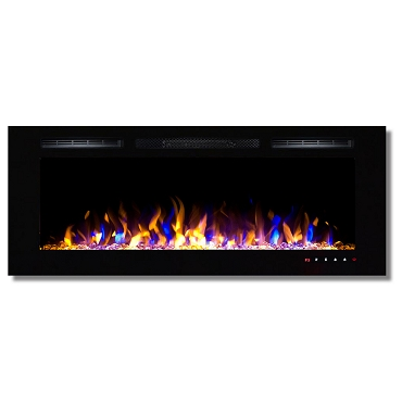 Regal Flame Fusion 50 Inch Built-in Ventless Heater Recessed Wall Mounted Electric Fireplace - Multi-Color