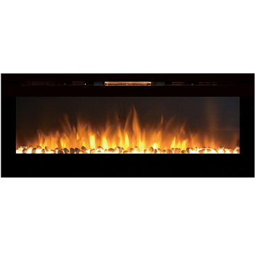 Regal Flame Astoria 60 Inch Built-in Ventless Heater Recessed Wall Mounted Electric Fireplace - Pebble