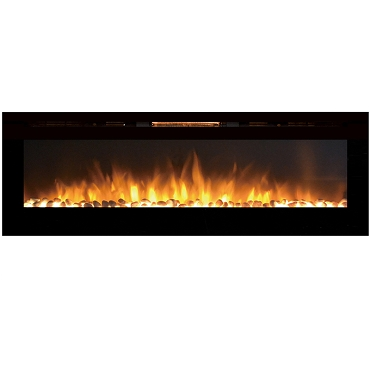 Regal Flame Gotham 72 Inch Built-in Ventless Heater Recessed Wall Mounted Electric Fireplace - Pebble
