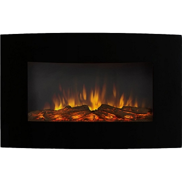 Regal Flame Broadway 35 Inch Ventless Heater Electric Wall Mounted Fireplace - Log