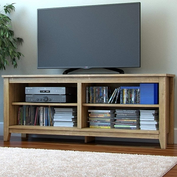 Ryan Rove Mission 58 Inch Wood TV Console in Natural