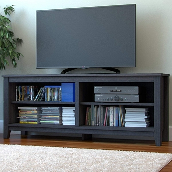 Ryan Rove Mission 58 Inch Wood TV Console in Charcoal
