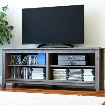 Ryan Rove Mission 58 Inch Wood TV Console in Ash Grey