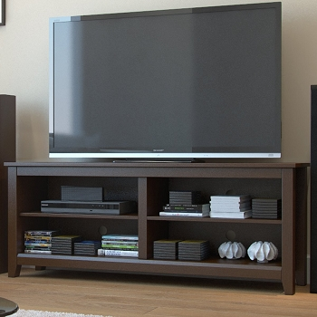Ryan Rove Mission 58 Inch Wood TV Console in Espresso