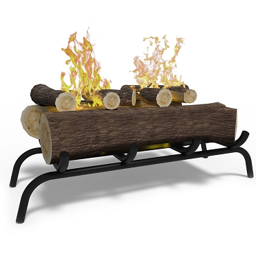 Regal Flame 18 inch Convert to Ethanol Fireplace Log Set with Burner Insert from Gel or Gas Logs - Oak