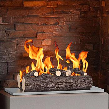 Regal Flame 16 Inch 5 Piece Ceramic Fireplace Gas Logs - Oak